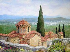 watercolor GREECE