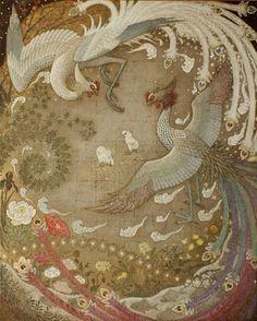 Toshiyuki Enoki creates subtle work with elements of traditional Japanese painting and contemporary illustration. Japanese Painting, Chinese Painting, Chinese Art, Oriental, Art Chinois, Art Asiatique, Chinese Embroidery, Art Japonais, Japan Art