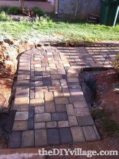 DIY paver path, look