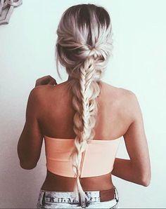 Beautiful wrapped braid.