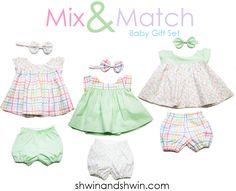 Abbey Dress Pattern - Shwin and Shwin Baby Girl Dress Patterns, Baby Clothes Patterns, Sewing Patterns Free, Baby Patterns, Clothing Patterns, Free Pattern, Baby Dress Pattern Free, Skirt Patterns, Pattern Sewing