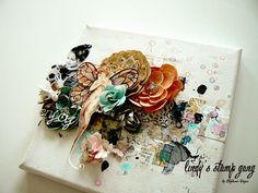 3D Mixed Media Canvas Tutorial by Stephanie Papin | Lindy's Stamp Gang