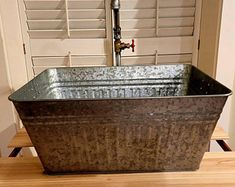 Laundry sink Wall monuntable bathroom enamel sink basin | Etsy Vessel Sink, Sink Faucets, Laundry Tubs, Laundry Room, Water Faucet, Water Hose, Plumbing Drains, Outdoor Sinks, Galvanized Pipe