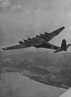 "bmashina: "" German heavy transport aircraft Messerschmitt Me.323 ""Gigant"" in flight """