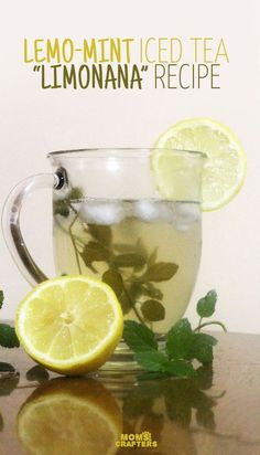 Make this delicious lemon mint iced tea recipe - better known as limonana! It's a healthy summer drink, and great for kids!