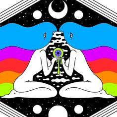 Trippy Drawings, Psychedelic Drawings, Dark Art Drawings, Cute Canvas Paintings, Canvas Art, Overlays, Psychadelic Art, Acid Art, Trippy Painting