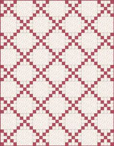 Country Lanes Quilt Block in a single Irish Chain