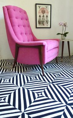 adventures of an almost 40 year old intern...: d.i.why not? black & white extreme stripes painted rug