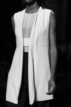 Longline Waistcoat - chic simplicity, fashion details // Narciso Rodriguez Fall 2015
