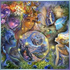 """""""A New Era"""" by reluna on Polyvore. I love this art collage as it contains many pieces by Josephine Wall who is an amazing fantasy artist"""