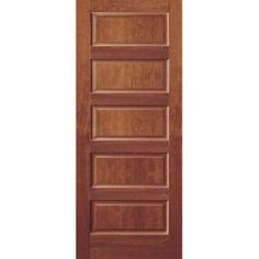 Contemporary Panel Frosted Glass Door Solid Red Oak