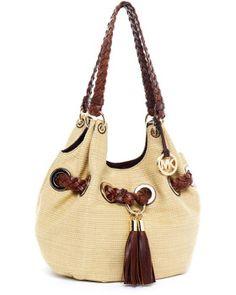 MICHAEL Michael Kors - Natural Large Grommet Shoulder Bag Luggagemocha -  Lyst 7fa4c68437