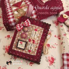 dulces pilukas: Guarda agujas flores. Needls Book.