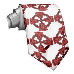 Red Celtic Cross Tie