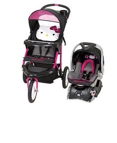 Car Seat Stroller Travel System Infant Baby Hello Kitty Girls Snugride Carriage