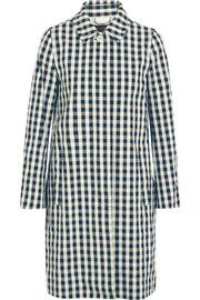 Gingham cotton trench coat