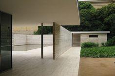 Barcelona Pavilion Mies van der Rohe back by Maarten Thewissen, via Flickr