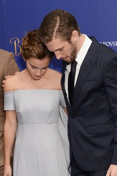 """We're unapologetically obsessed with these photos of Emma Watson and Dan Stevens being friends at the """"Beauty and the Beast"""" premiere"""