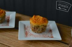 Paleo Spicy Shepherd's Pie Muffins | OAMC from Once A Month Meals