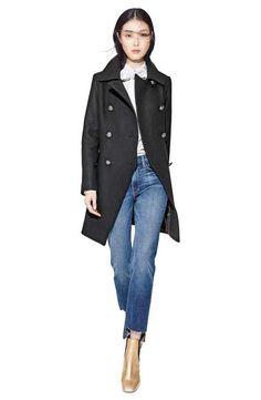 Trina Turk Coat, FRAME Blouse & Jeans