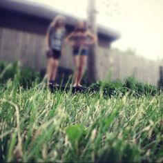 Me and bestie in some grass