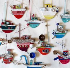 #one-boat-a-day Don't ask me why, but I love love love these quirky little found item boats!
