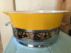 Mid-Century Chrome Bowl Holder / Server for Casserole and other bowls. Nice addition to your Pyrex display!