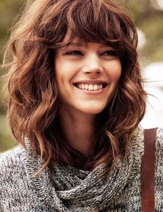 hairstyles for curly hair bangs