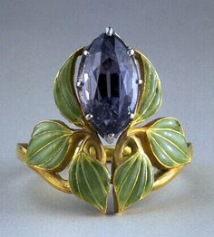 Lalique ring c.1903. Art Nouveau✖️Art And Ideas ✖️More Pins Like This At FOSTERGINGER @ Pinterest✖️
