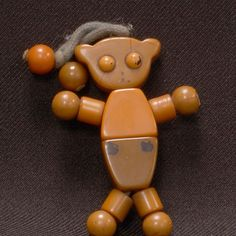 "This ""Boppy Bear"" toy was manufactured by Tykie Toy Company of Piqua, Ohio, in the 1940s and early 1950s."