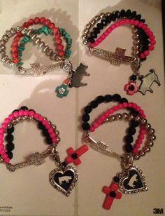 Stockshow You Design it 3 strand Cross Bracelet by sassygirlsx3, $16.00