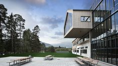 Voss High School in Norway Clear Lake, Learning Spaces, Building Design, Norway, Mansions, Landscape, Forests, Architecture, Ark