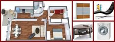 Which one of the 4 real-life brand name items from this 3D floor plan is YOUR favorite?   Furniture from Crate and Barrel, Langlo AS, BoConcept & Miele: http://www.roomsketcher.com/features/homedesign/  3D floor plan designed in RoomSketcher Business Edition by a RoomSketcher partner