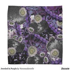 Jeweled In Purple Bandana