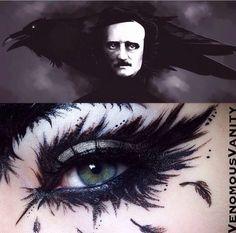 Edgar Allen Poe inspired makeup