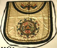 Simon Bolivar's 32nd Degree Scottish Rite Masonic Apron #masonic
