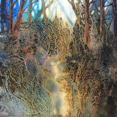 by Yesim Meltem Gozukara – Mixed media on paper – ThePins Watercolor Mixing, Watercolor Trees, Watercolor Landscape, Abstract Landscape, Landscape Paintings, Watercolor Paintings, Abstract Art, Watercolour Tips, Watercolours