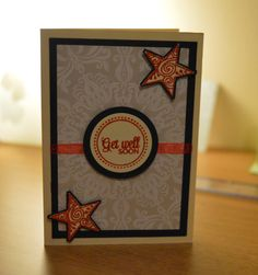 Step by step tutorial on how to make this Get well soon card