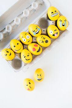 Lesen Sie hier, was Sie brauchen, um diese lustigen Eier Gesichter zu malen