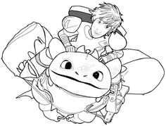 How to Draw Hiccup and Toothless from How to Train Your Dragon and Dragons Race to the Edge - How to Draw Step by Step Drawing Tutorials Toothless Drawing, Hiccup And Toothless, Httyd, Fall Coloring Pages, Disney Coloring Pages, How To Train Your, How Train Your Dragon, Dragon Line Drawing, Dragon Coloring Page