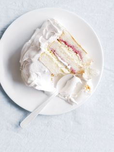 raspberry and cream angel food cake