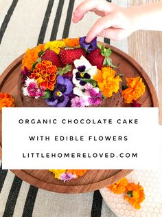 Flowers and cake are