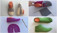 kadin-patik-yapilislari-2019-ceyiz-patikleri Fingerless Gloves, Arm Warmers, Fashion, Slipper, Fingerless Mitts, Moda, Fashion Styles, Fingerless Mittens, Fashion Illustrations