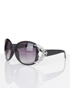 Elegante Sonnenbrille mit Ziereinsätzen von Rita Pfeffinger.   Weitere Modehighlights auf www.hse24.de.