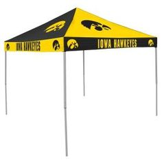 Iowa Hawkeyes NCAA 9' x 9' Checkerboard Color Pop-Up Tailgate Canopy Tent