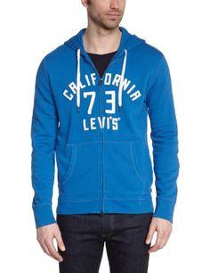 Levi's - Sweat-shirt à capuche zippé - Uni - Manches longues - Homme - Bleu (Levisca2/Snorkel Blue) - Small (Taille fabricant: S) Levi's http://www.amazon.fr/dp/B00HR1L5PY/ref=cm_sw_r_pi_dp_Nlyewb1Y5JRT8