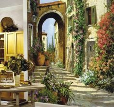 Tuscan Wall Art Murals | Click here to see more mediterranean murals