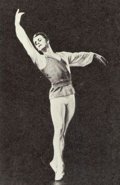 Mikhail Baryshnikov's photo from the brochure for the First International Ballet Competition in Moscow, 1969