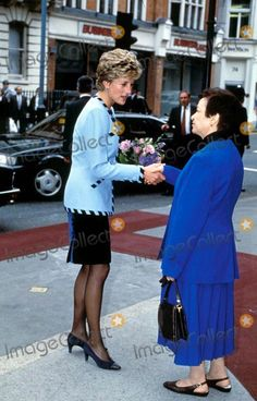 April 22, 1993: Princess Diana at the opening of the Egyptian House for Productive Families, London. Photo: Dave Chancellor-alpha-Globe Photos Inc