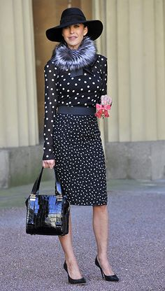 Best Dressed: Her Jimmy Choo brand made her a $100m fortune before her 40th birthday. A kick-ass businesswoman rocking next-season's polka dot. Love.
